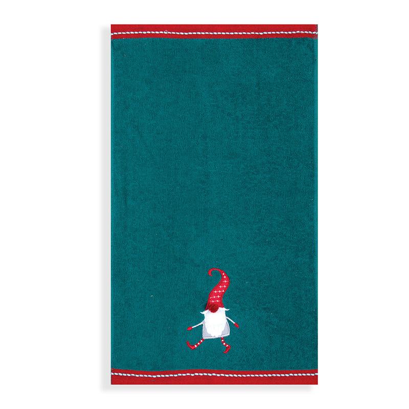 Χριστουγεννιάτικες Πετσέτες Κουζίνας (Σετ 2 Τμχ) 30×50 Nef Nef Crazy Santa Green