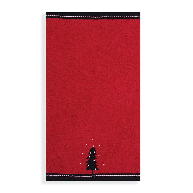Χριστουγεννιάτικες Πετσέτες Κουζίνας (Σετ 2 Τμχ) 30×50 Nef Nef Christmas Forest Red