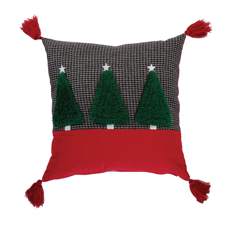 Χριστουγεννιάτικο Διακοσμητικό Μαξιλάρι 45×45 Nef Nef Christmas Trees D.Grey