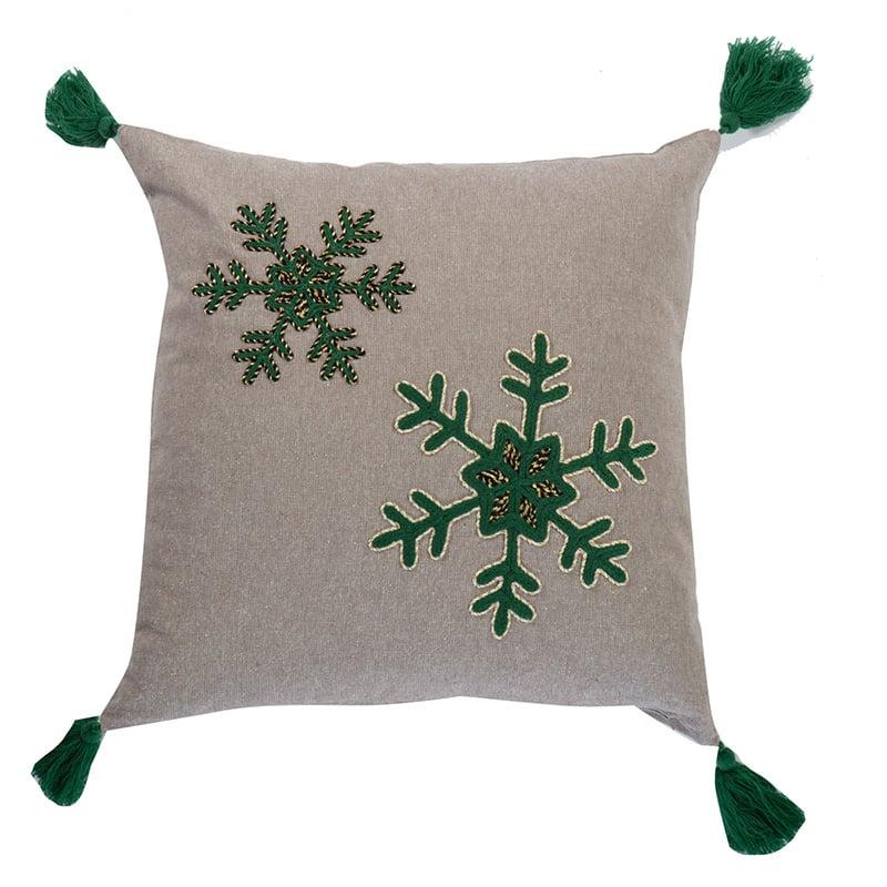 Χριστουγεννιάτικο Διακοσμητικό Μαξιλάρι 45×45 Nef Nef Snow Time L.Grey
