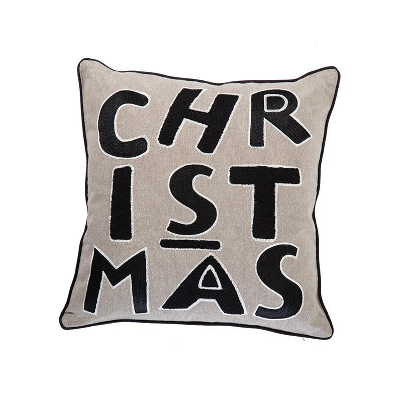 Χριστουγεννιάτικο Διακοσμητικό Μαξιλάρι 45×45 Nef Nef Christmas L.Grey