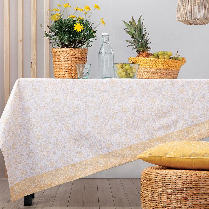 Αλέκιαστο Τραπεζομάντηλο 140×180 Nef Nef Restless Yellow