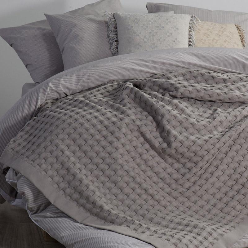 Κουβέρτα Πικέ Μονή 170×240 Nef Nef Organic Grey