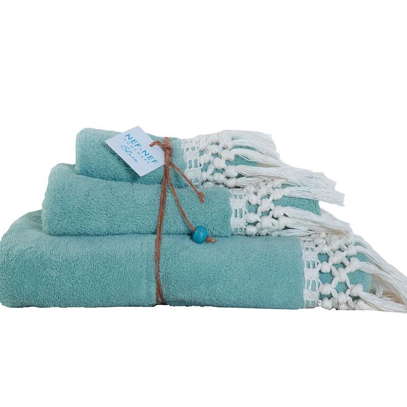 Πετσέτες Μπάνιου (Σετ 3 Τμχ) Nef Nef Blue Virgin Blue