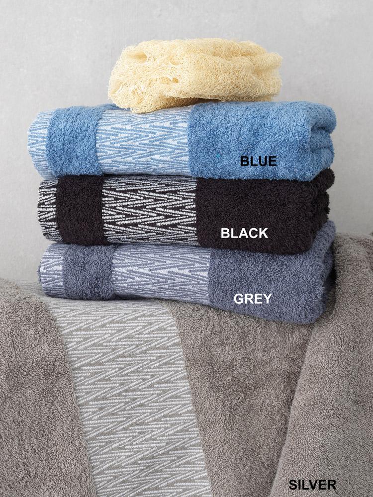 Πετσέτες Μπάνιου (Σετ 3 Τμχ) Palamaiki Cruz Blue