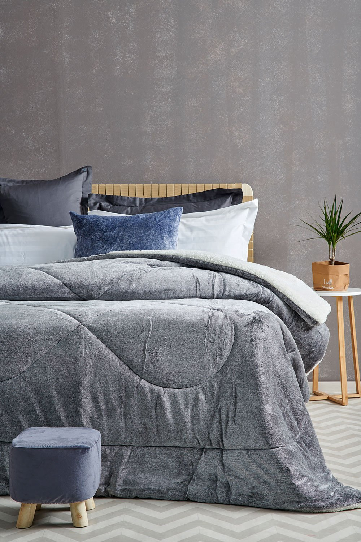 Κουβερτοπάπλωμα Υπέρδιπλο 220X240 Palamaiki Gring Blanket Grind Gray