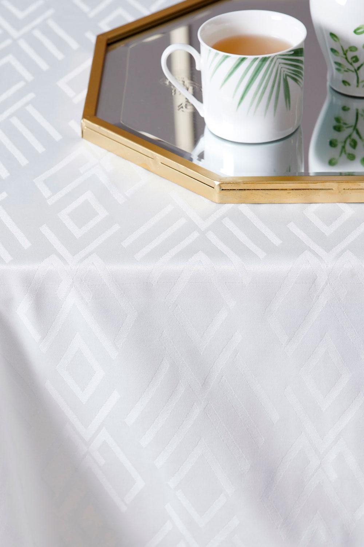 Τραπεζομάντηλο Αλέκιαστο 160X160 Palamaiki Formal Dinner Isla White