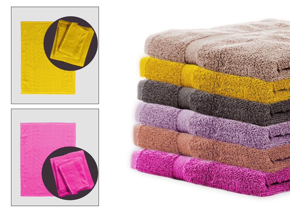 Πετσέτες Μπάνιου (Σετ 3 Τμχ) + Πατάκι Palamaiki Towels Collection Rod Beige