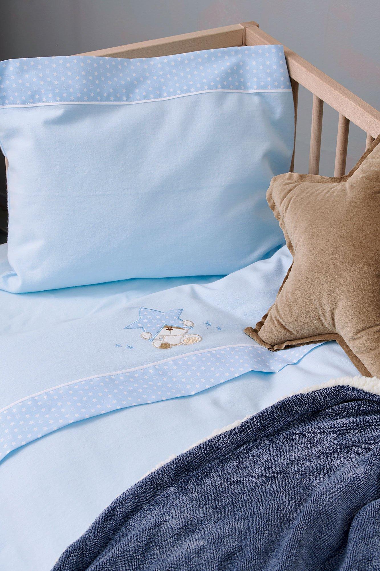 Σεντόνια Κούνιας (Σετ) 70X140+15 Palamaiki Baby Joia Bj527 Ciel Με Λάστιχο