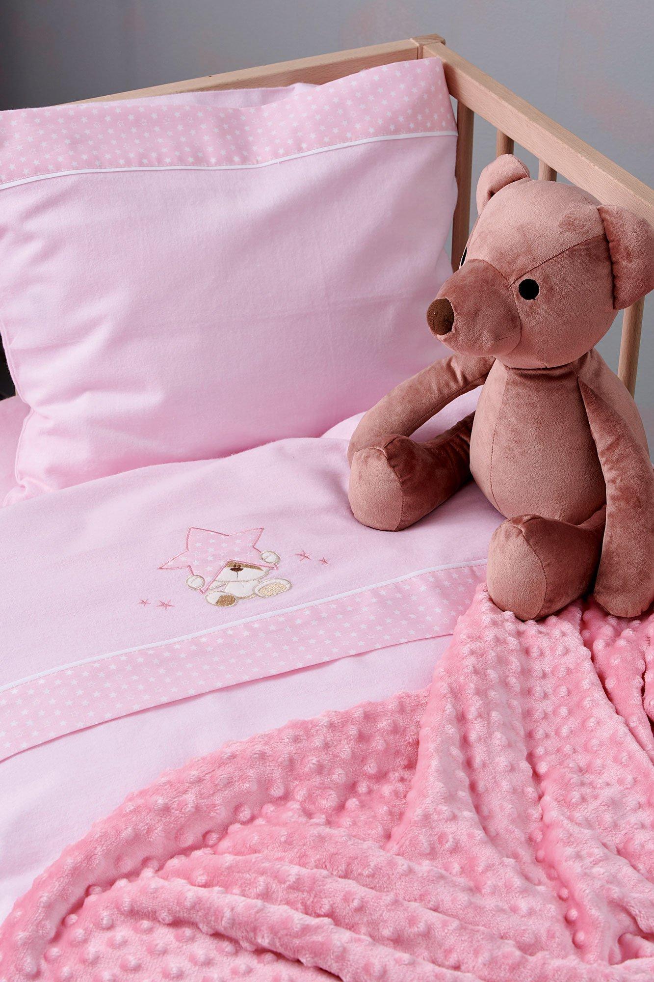 Σεντόνια Κούνιας (Σετ) 70X140+15 Palamaiki Baby Joia Bj527 Pink Με Λάστιχο