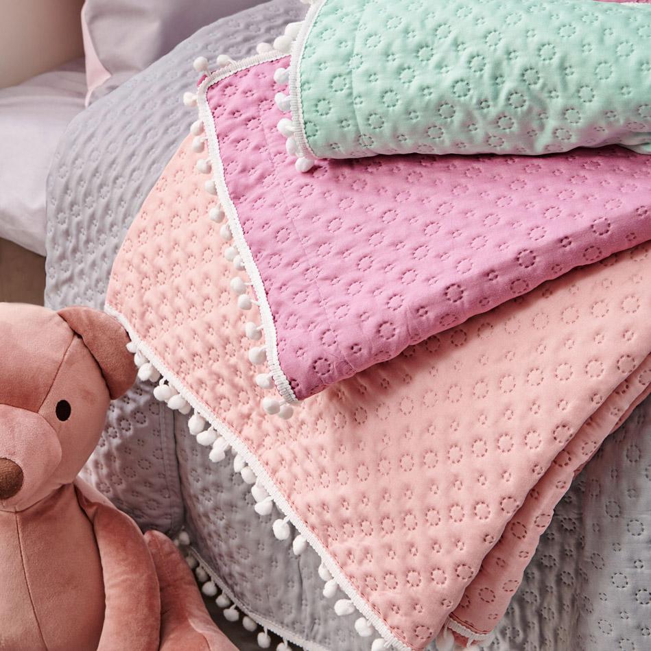 Κουβερλί Κούνιας 110X140 Palamaiki Cover Colletion Juniper Pink