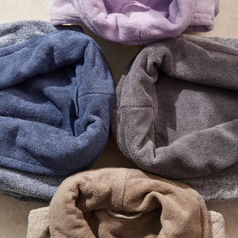 Μπουρνούζι Με Γιακά S/M Palamaiki Bathrobe Collection Belagio Grey