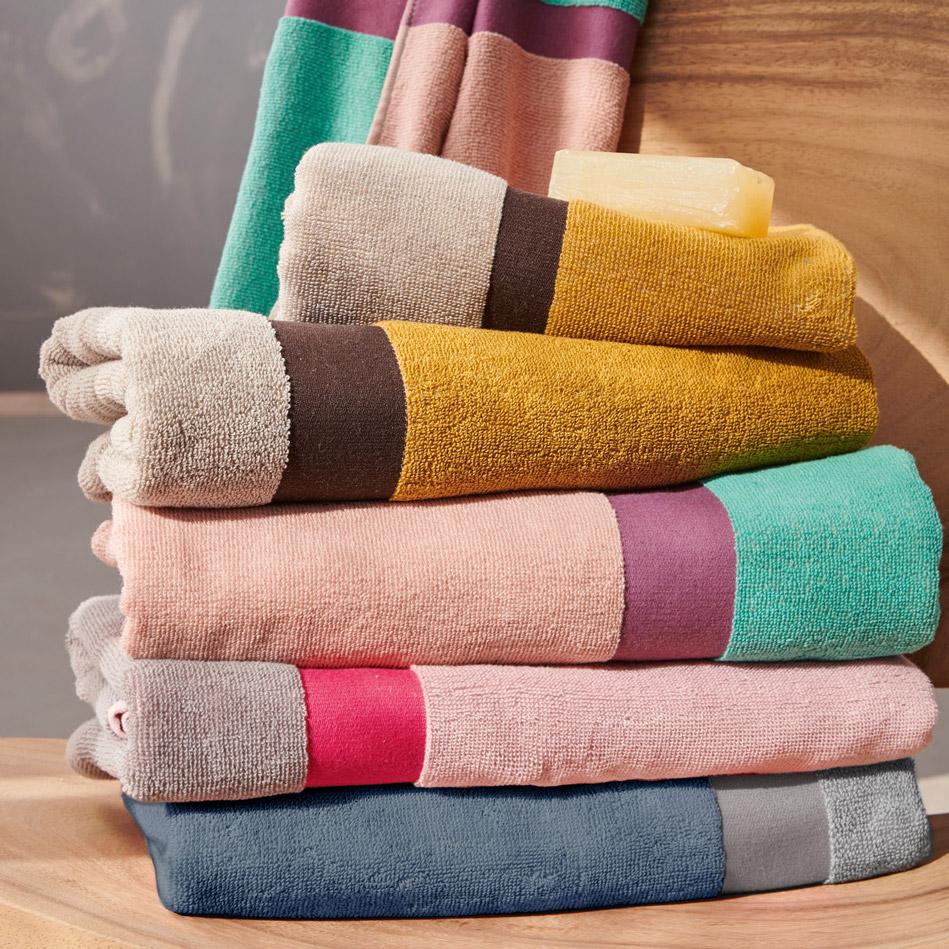 Πετσέτες Προσώπου (Σετ 2 Τμχ) 50X90 Palamaiki Bathroom Towel Fandago Pink