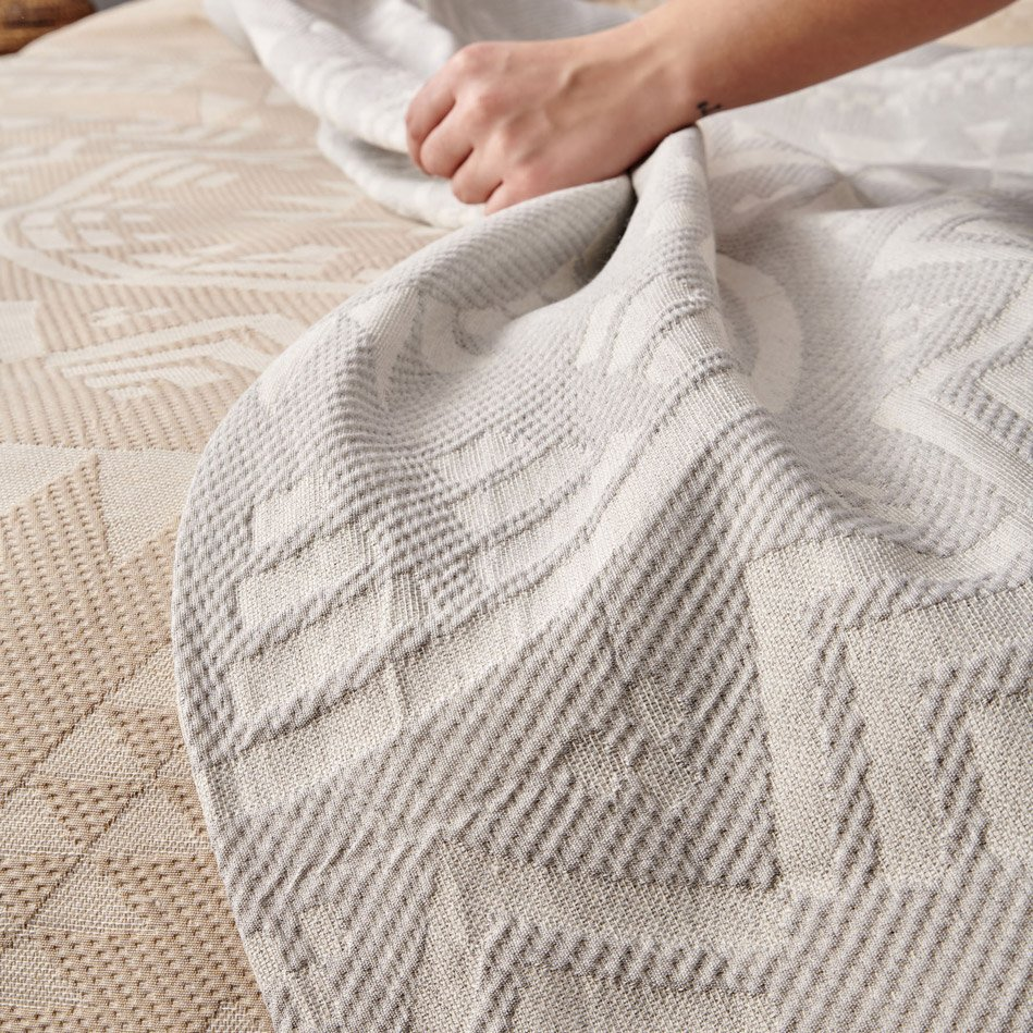 Κουβερτόριο Υπέρδιπλο 220X250 Palamaiki Blanket Collection Native Grey