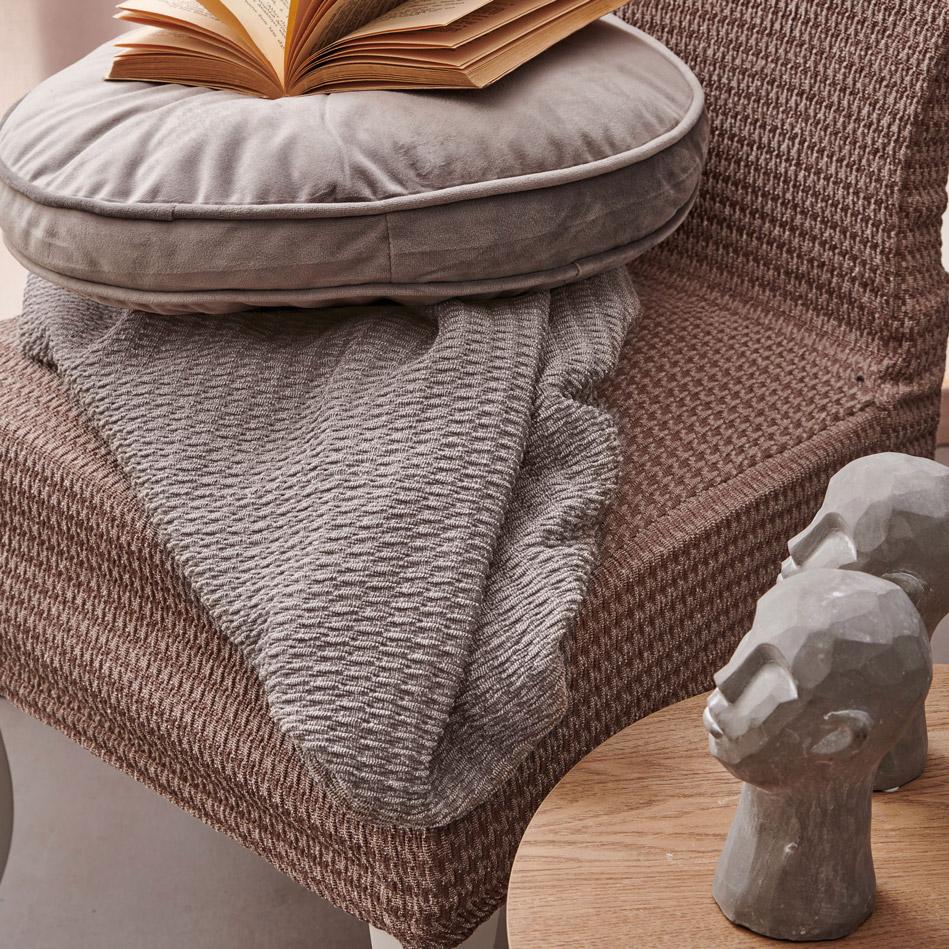 Ελαστικό Κάλυμμα Τριθέσιου Καναπέ 85X250 Palamaiki Throws Collection Ft1517 Grey