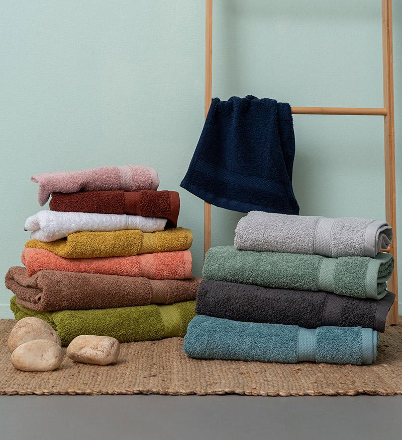 Πετσέτες Μπάνιου (Σετ 3 Τμχ) Palamaiki Towels Collection Ombra Jade