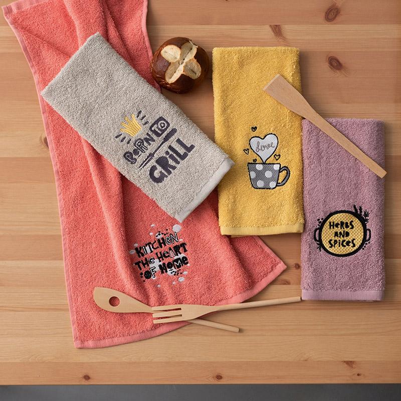 Πετσέτες Κουζίνας 40X60 (Σετ 4 Τμχ) Palamaiki Kitchen Collection Kt170