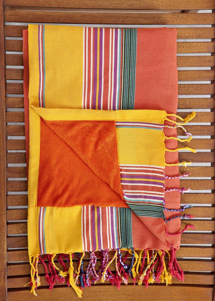 Πετσέτα/Παρεό 95×175 – Nima Mahabali Orange