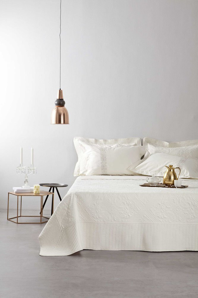 Σετ Νυφικό Κουβερλί + Σετ Σεντόνια ( 7 Τμχ)- Nima Besame λευκά είδη υπνοδωμάτιο νυφικά κουβερλί κουβερλί υπέρδιπλα
