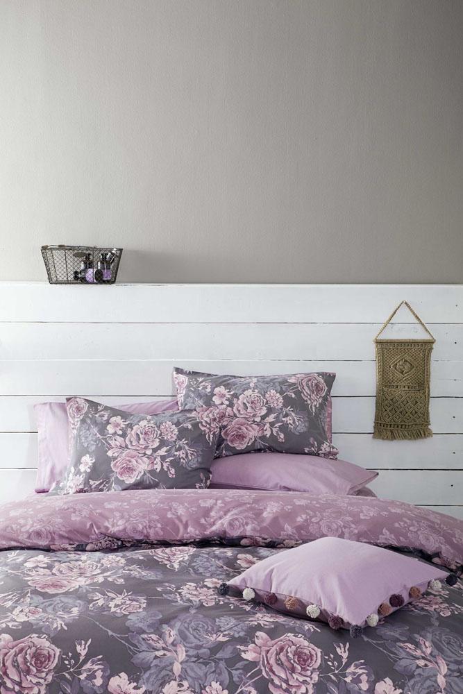 Σεντόνια Ημίδιπλα (Σετ) Nima - Carmen Purple λευκά είδη υπνοδωμάτιο σεντόνια ημίδιπλα διπλά σεντόνια