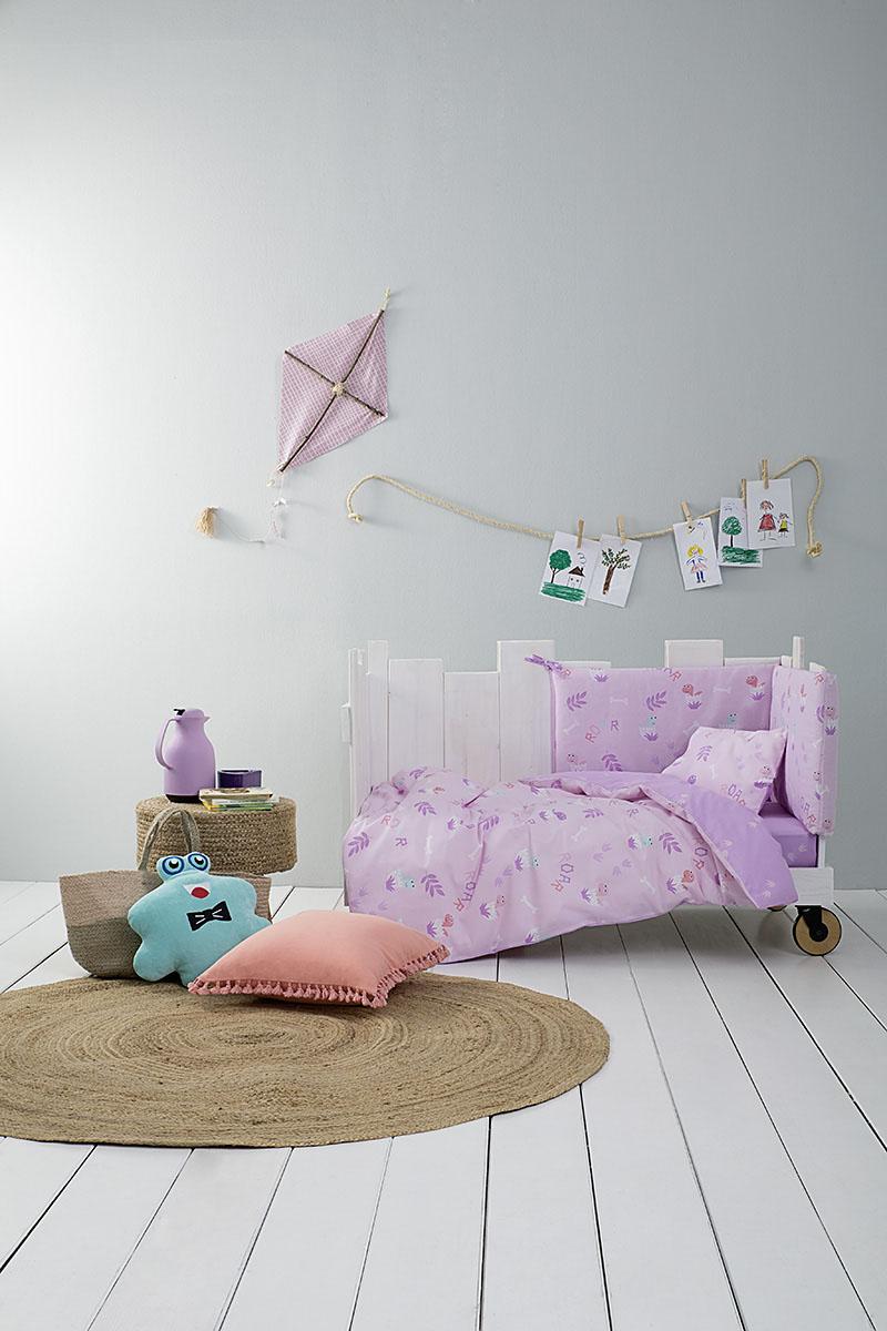 Σεντόνια Κούνιας (Σετ) Nima – Baby Roar Lilac