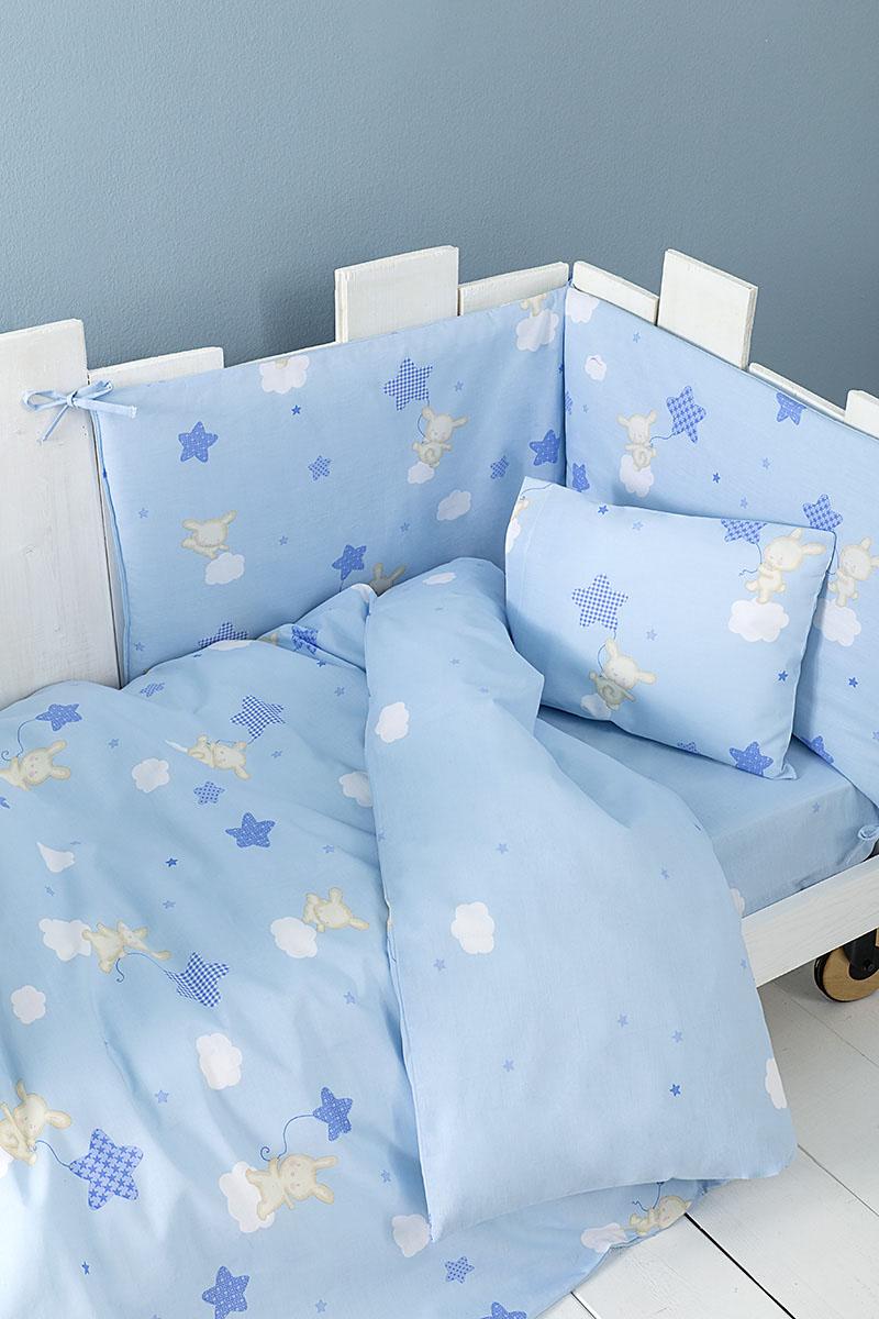 Κουβερλί Κούνιας Nima – Baby Star Blue