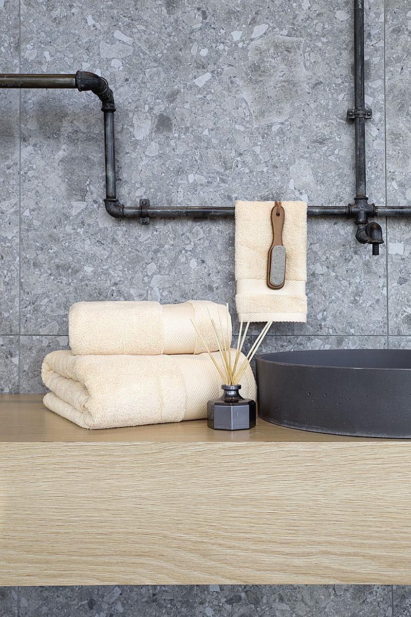 Πετσέτες Μπάνιου (Σετ 3τμχ) Medea Nima – Beige