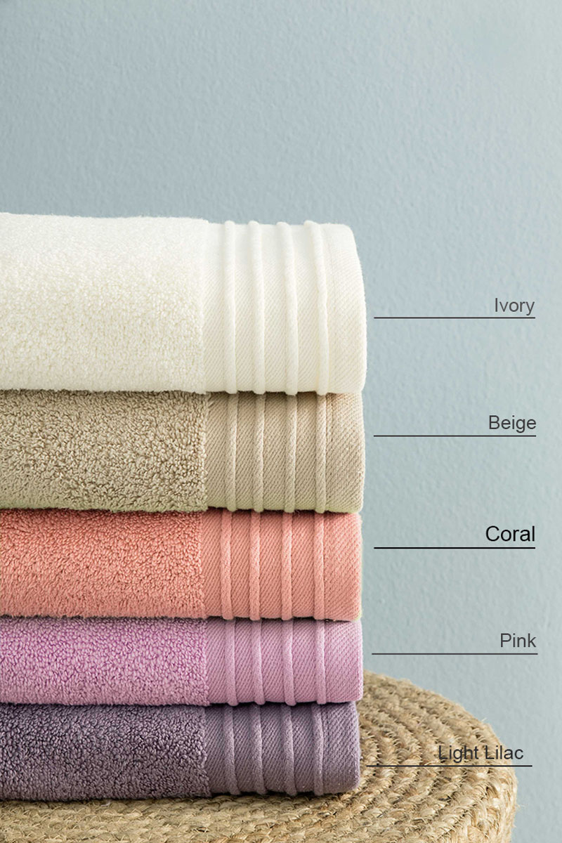 Πετσέτες Μπάνιου (Σετ 3τμχ) Feel Fresh Nima – Coral