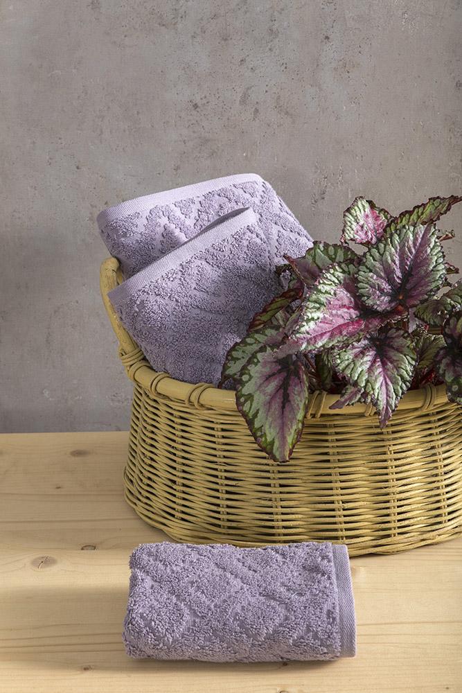 Πετσέτες Μπάνιου (Σετ 3 Τμχ) Nima – Reina Purple