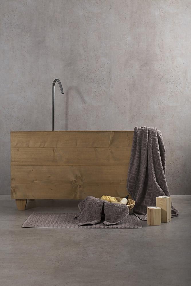 Πετσέτες Μπάνιου (Σετ 3 Τμχ) Nima – Reina Brown