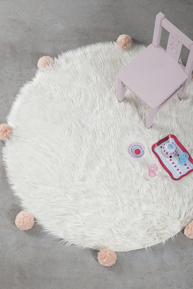 Στρογγυλό Χαλί R120 Nima - Fluffy Taupe λευκά είδη σαλόνι χαλιά σαλονιού παιδικά χαλιά