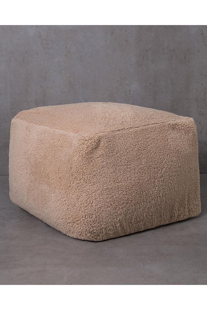 Πουφ 50x50x35 Nima – Wooly Nude
