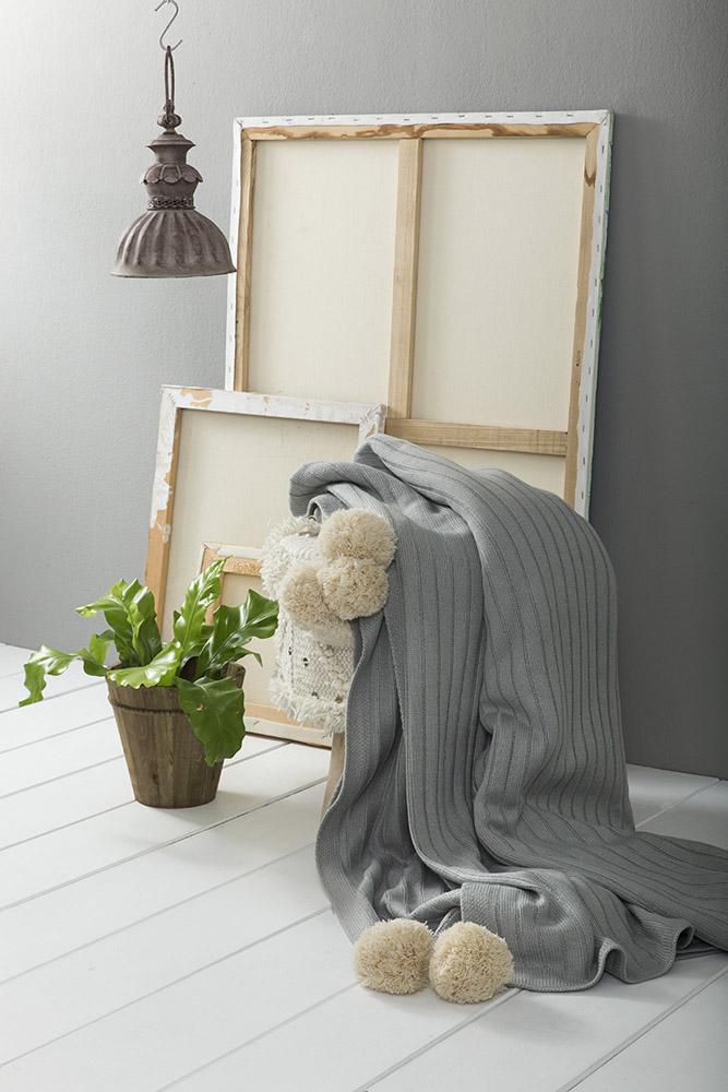 Κουβέρτα Μονή Πλεκτή 150×220 Nima – Snug Mint