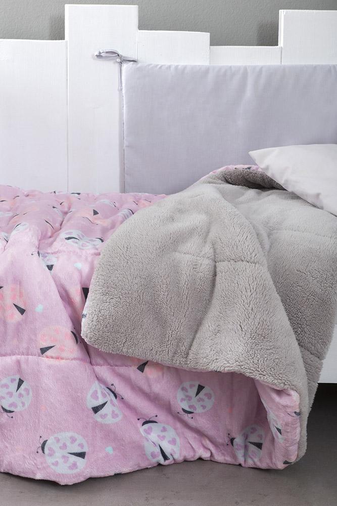 Κουβερτοπάπλωμα Κούνιας 110×140 Nima – Lovebug