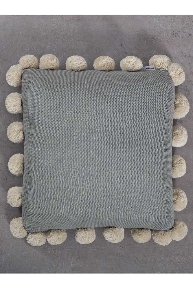 Διακοσμητικό Μαξιλάρι 45×45 Pom Pom Nima – Snug Mint