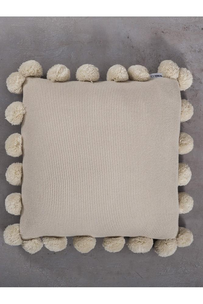 Διακοσμητικό Μαξιλάρι 45×45 Pom Pom Nima – Snug Beige