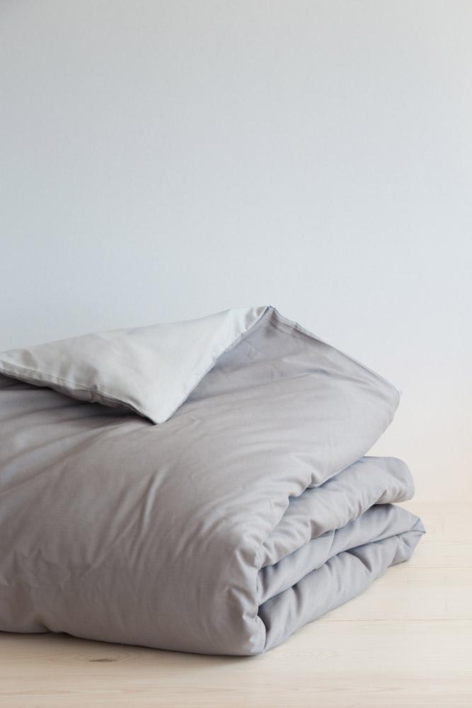 Παπλωματοθήκη Μονή (Σετ) Abalone Nima – Light Gray / Dark Gray
