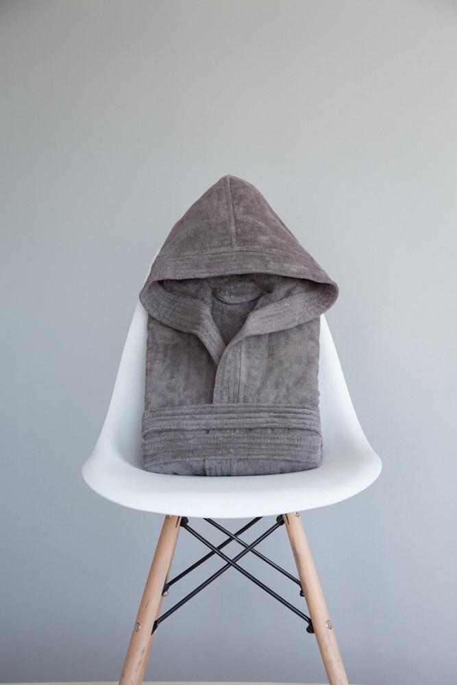 Μπουρνούζι με κουκούλα Zen σε Κουτί – Small Nima – Gray