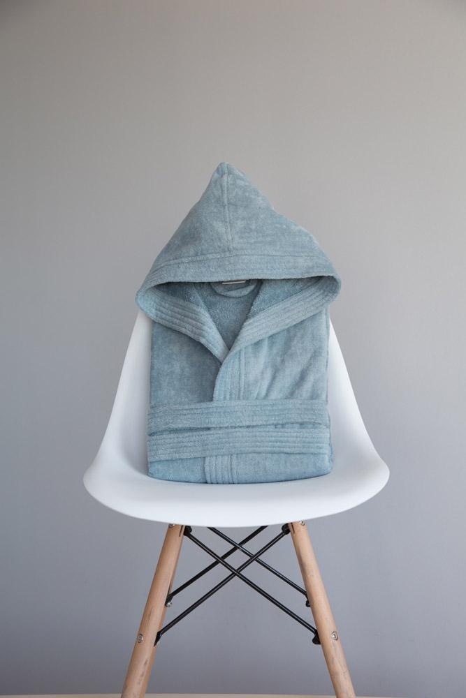 Μπουρνούζι με κουκούλα Zen σε Κουτί – Large Nima – Blue
