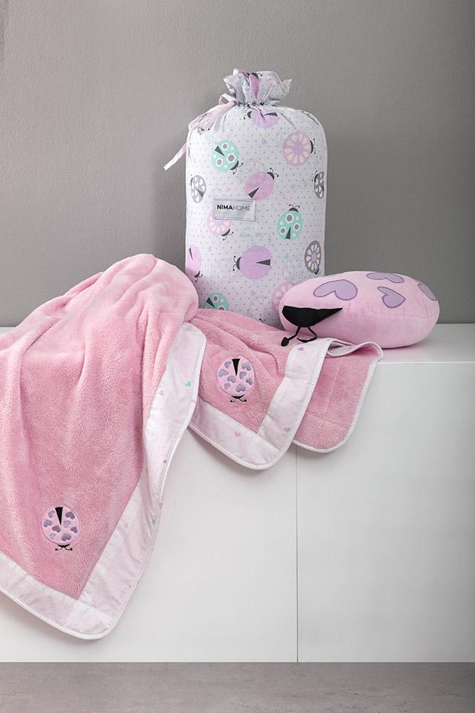 Κουβέρτα Λίκνου Fleece 80×110 Nima – Lovebug