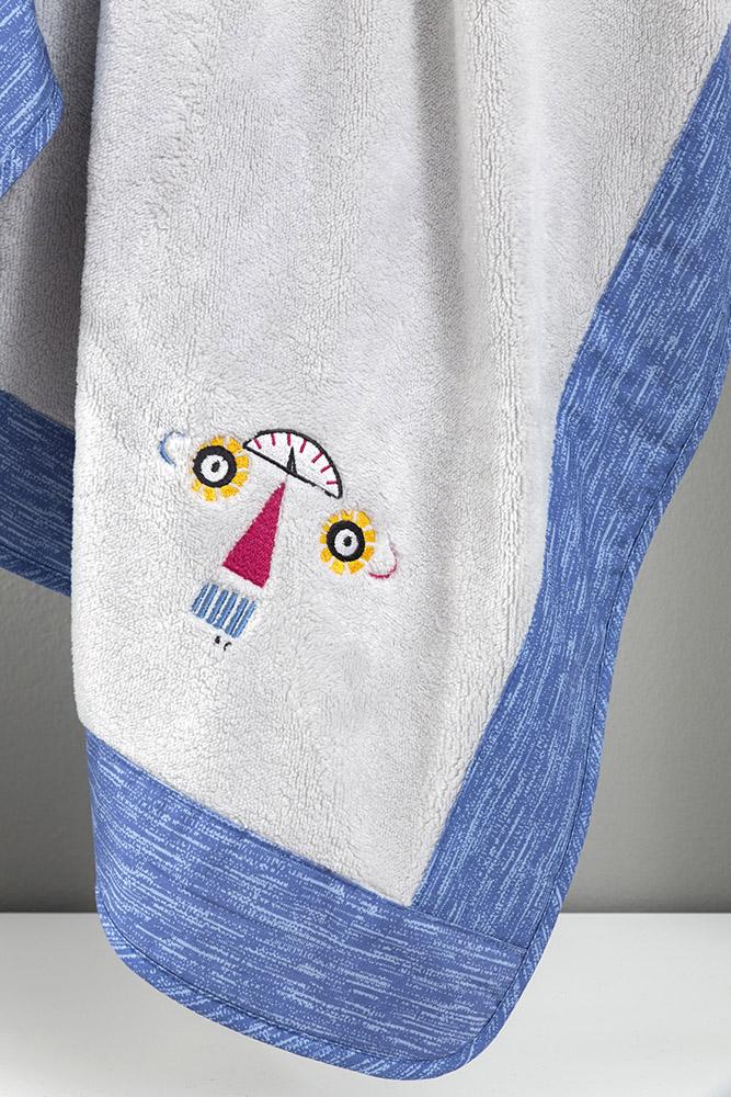 Κουβέρτα Fleece Κούνιας 110×140 Nima – Robo Tiny