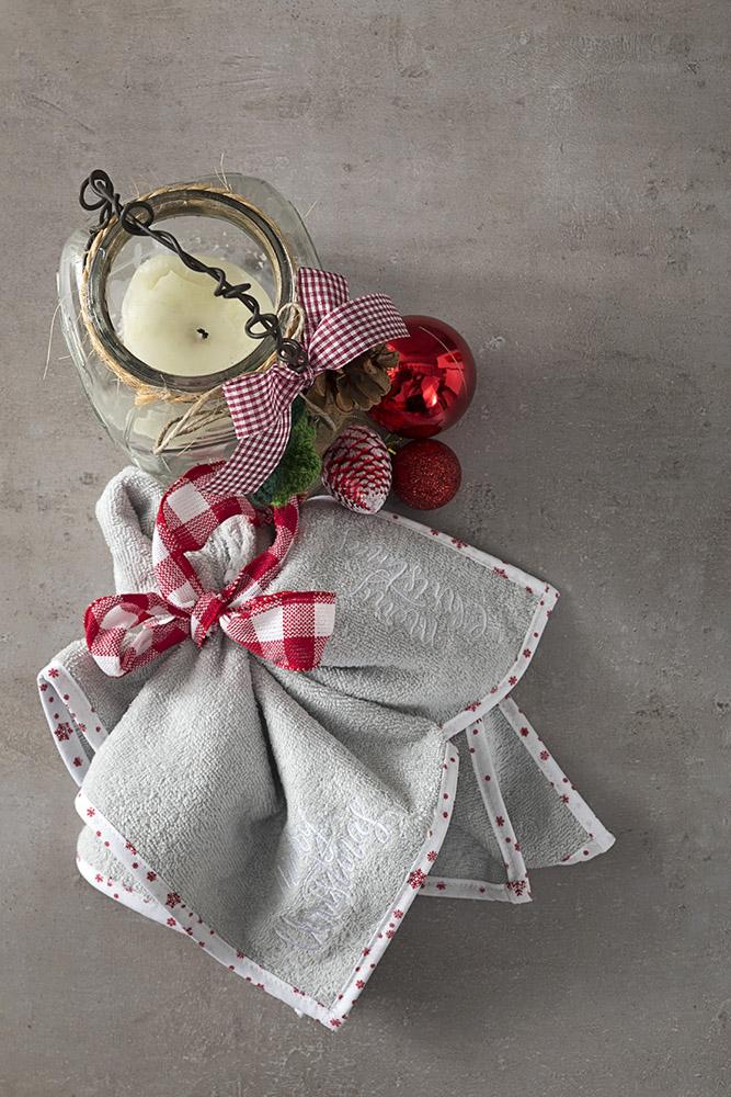 Πετσέτα Κουζίνας 45×45 Nima – Gingerbread Gray