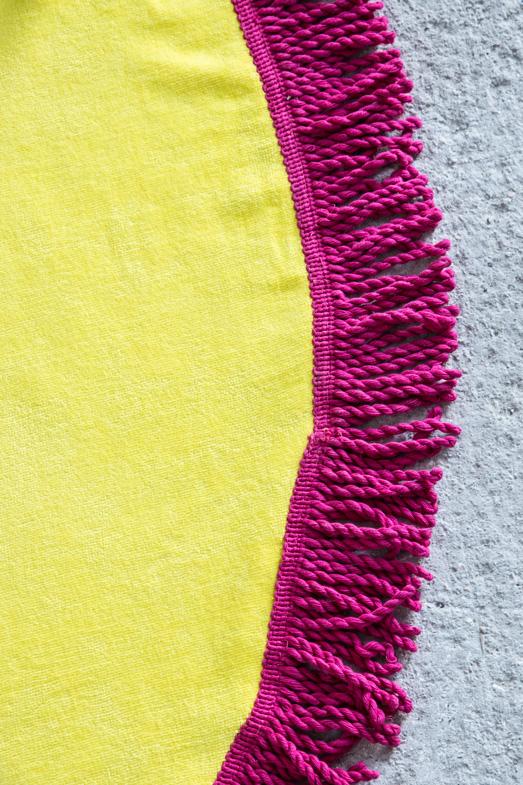 Πετσέτα Θαλάσσης Στρογγυλή R150 – Nima Vibe Yellow