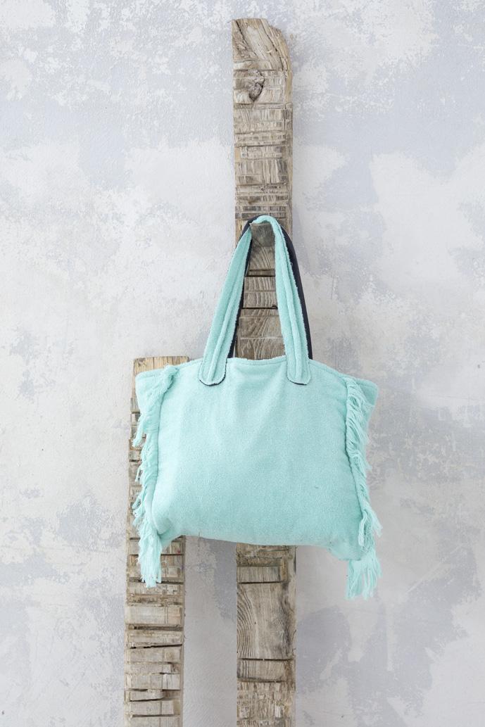 Τσάντα Θαλάσσης 46x60 - Nima Poche Mint λευκά είδη θαλάσσης τσάντες θαλάσσης