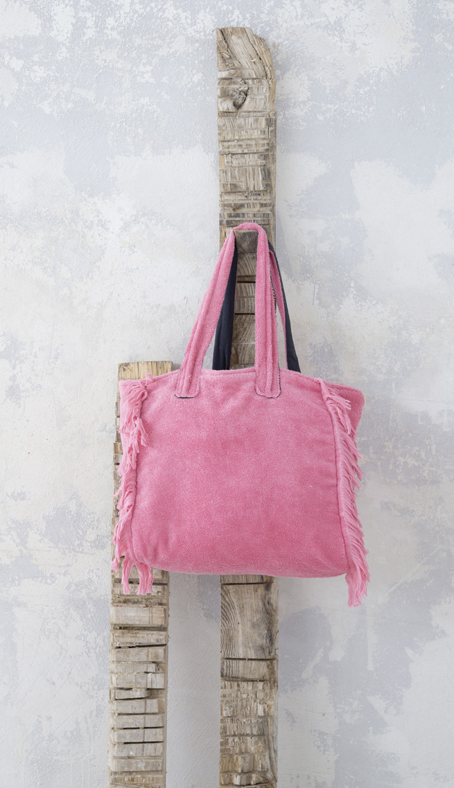 Τσάντα Θαλάσσης 46x60 - Nima Poche Pink λευκά είδη θαλάσσης τσάντες θαλάσσης