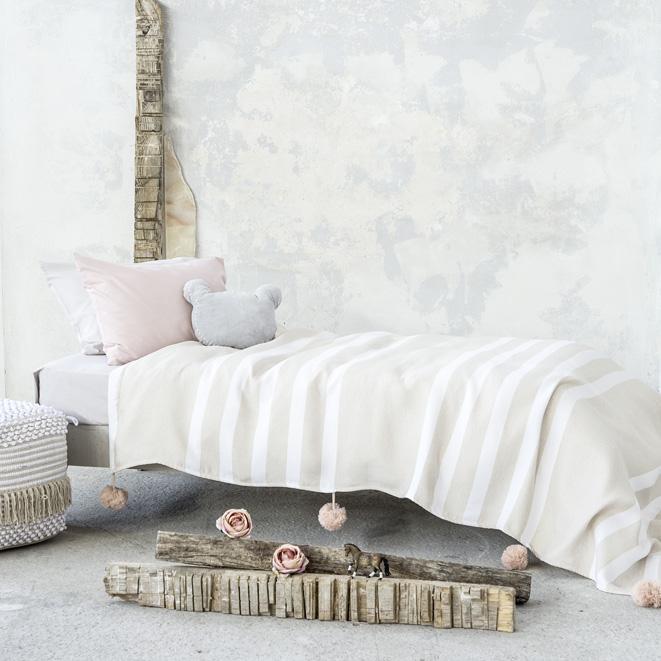 Κουβέρτα 155×240 με Pom Pom – Nima Jolyn