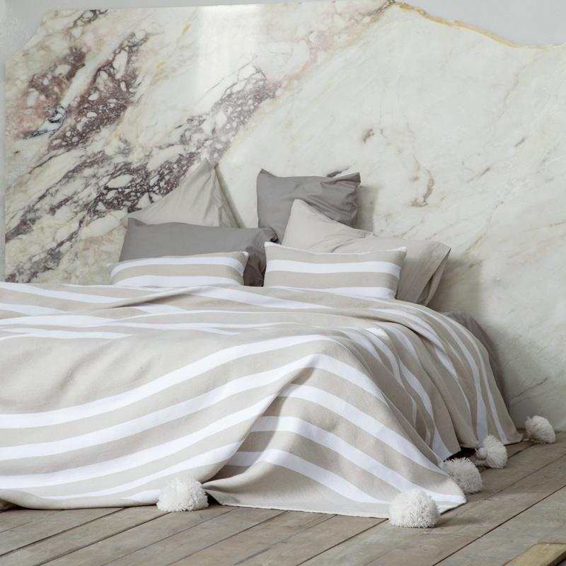 Κουβέρτα 240×250 με Pom Pom – Nima Primitive