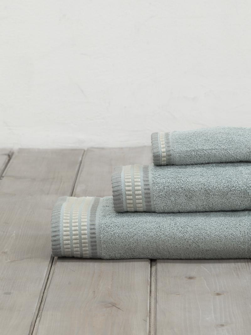 Πετσέτες Μπάνιου (Σετ 3 Τμχ) Nima Siren Silver Mint