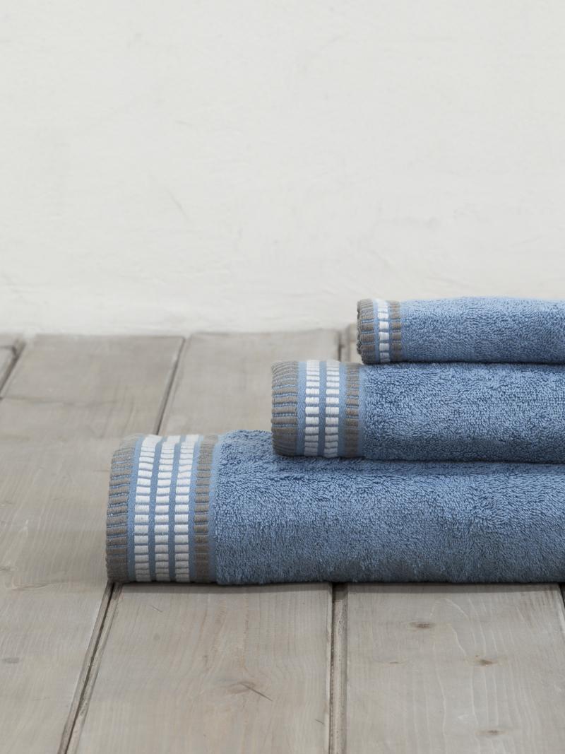 Πετσέτες Μπάνιου (Σετ 3 Τμχ) Nima Siren Denim Blue