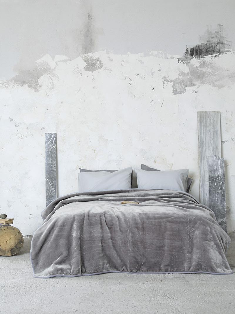 Κουβέρτα Βελουτέ Μονή 160×220 Nima Coperta Gray